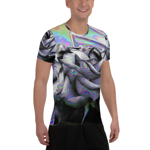 Noir & Boujee All-Over Print Men's Athletic T-shirt