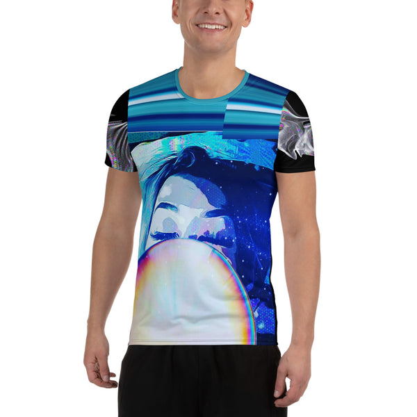 Cosmic Microwave Dream All-Over Print Men's Athletic T-shirt