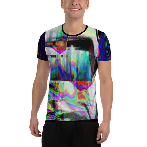 The Observer Effect All-Over Print Men's Athletic T-shirt
