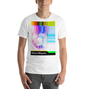 Macro Micro - Alien - Neon - Vaporwave -Psychedelic - Glitch Short-Sleeve Unisex T-Shirt
