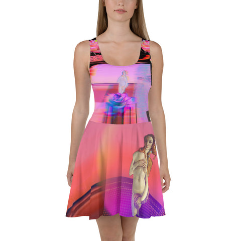 Webpunk Aesthetic Venus Skater Dress