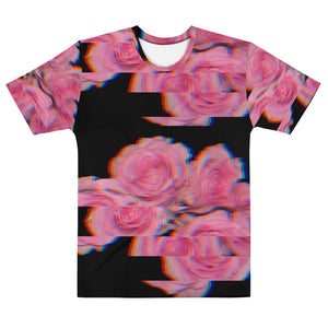 Coral RGB Roses Men's T-shirt