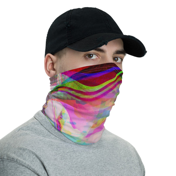 Butterflies Glitch Pixelsort Transformation Ninja Neck Gaiter Balaclava Face Shield Mask