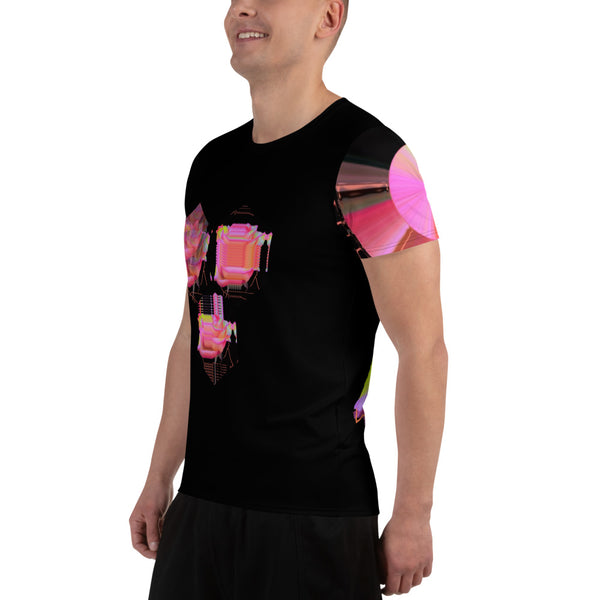 Cybernetic Rose Dream All-Over Print Men's Athletic T-shirt