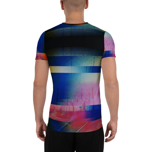 SYNAPSE All-Over Print Men's Athletic T-shirt