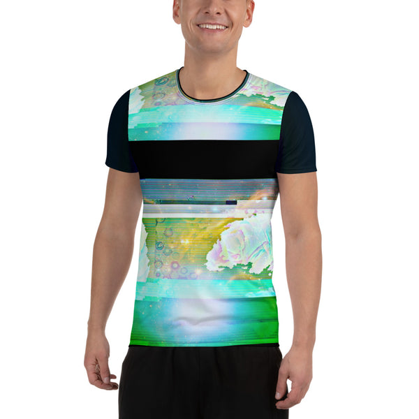 Tardigrade Space Dream All-Over Print Men's Athletic T-shirt