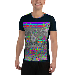Space Donuts All-Over Print Men's Athletic T-shirt