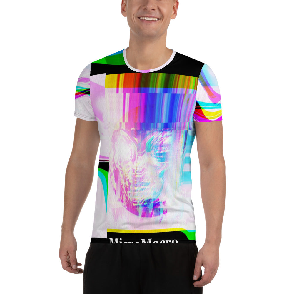 Micro Macro Alien All-Over Print Men's Athletic T-shirt