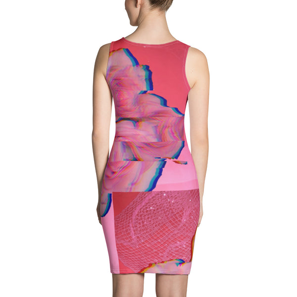 Oomph & Chaos Coral Rose Cut & Sew Dress