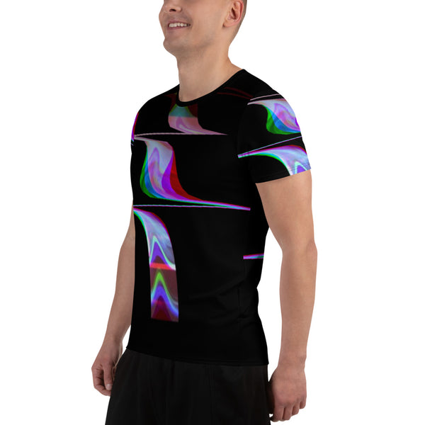 Quantum Entanglement All-Over Print Men's Athletic T-shirt