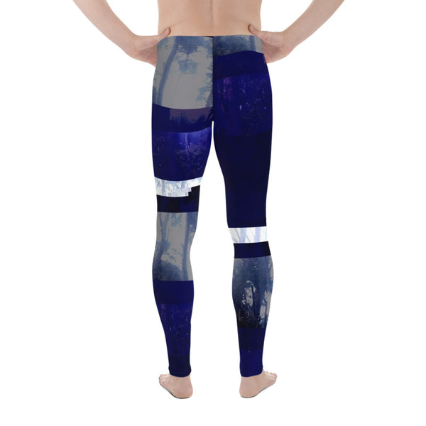 Interspacial Forest Glitch Men's Leggings