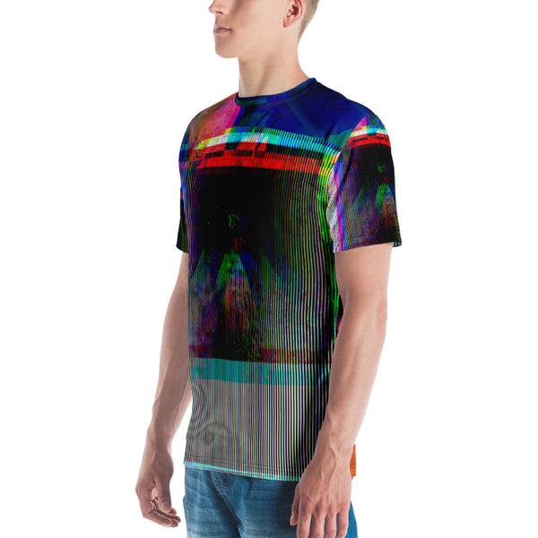 Timeloop Glitch Alchemy Vaporwave All Seeing Eye Men's T-shirt