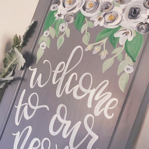Welcome Reclaimed Wood Sign-Semi Custom