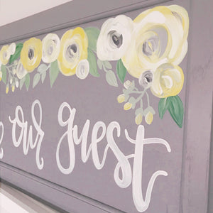 Be Our Guest Reclaimed Wood Sign