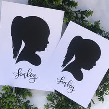 Load image into Gallery viewer, Custom Silhouette Print (9x12)