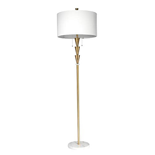 "Sagebrook Home 50134 Metal Floor 3 Stacked Cones, Gold, 64"" Lamps - Einhorn Homewares"