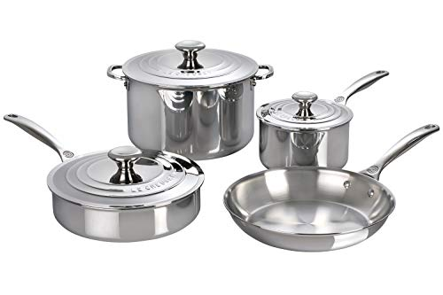 Le Creuset Stainless Steel Cookware Set - SSP14107, 7 Piece - Einhorn Homewares