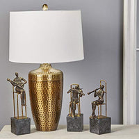 "Sagebrook Home 50192-01 Metal 28"" Table Lamp with Hammered Finish, Bronze, Copper - Einhorn Homewares"