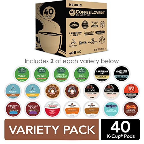 Keurig Coffee Lovers' Collection Sampler Pack - 40 individual Pods - Einhorn Homewares