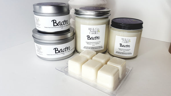 Natural Soy Candle - Bacon Scented (Hand-Poured and Hand-Crafted) - Einhorn Homewares
