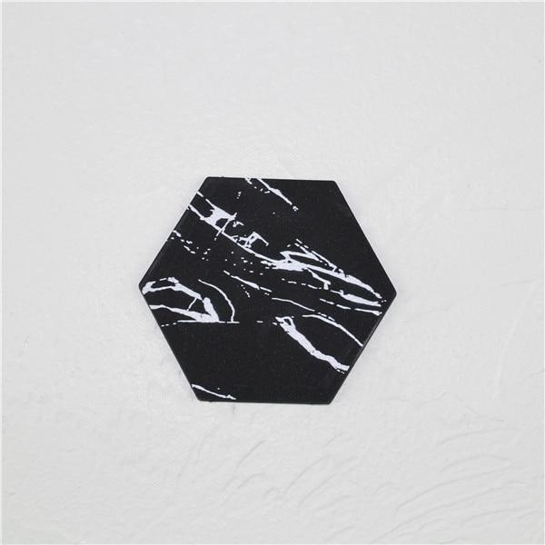 Chic Marble-look Silicon Coasters - Einhorn Homewares