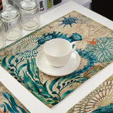 Eco-Friendly Linen Sea Creatures Placemats - Einhorn Homewares