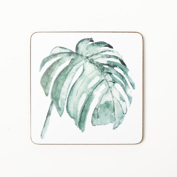 Eco Friendly Plant Printed Coasters with Cork bottom - Einhorn Homewares