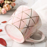 European Marbled Pink and Grey Ceramic Mug Set - Einhorn Homewares