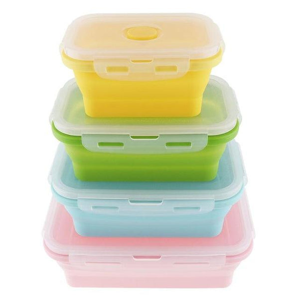 Silicone Collapsible Food Storage Containers Eco-Friendly Set 4 - Einhorn Homewares