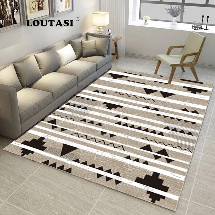 Nordic Minimalist Style Carpets For Living Room Modern Geometric Sofa Coffee Table Mat Bedroom Bedside Home Area Rug And Carpet Home Textile