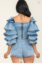 Load image into Gallery viewer, Denim & Ruffles | TOP