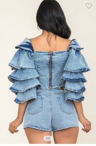 Denim & Ruffles | TOP