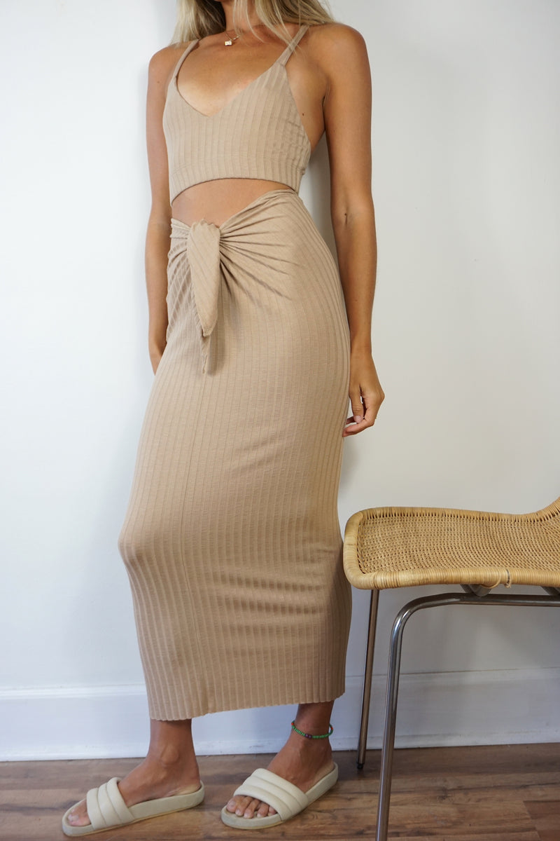 SUNSET SKIRT - SAND