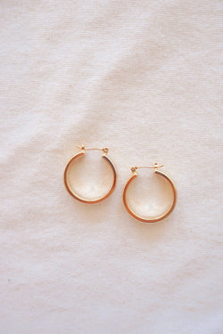 VICTORIA HOOPS - gold