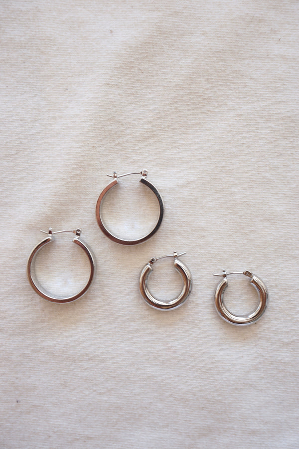 ROSA HOOPS - SILVER