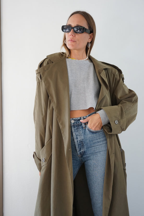 trench coat - olive