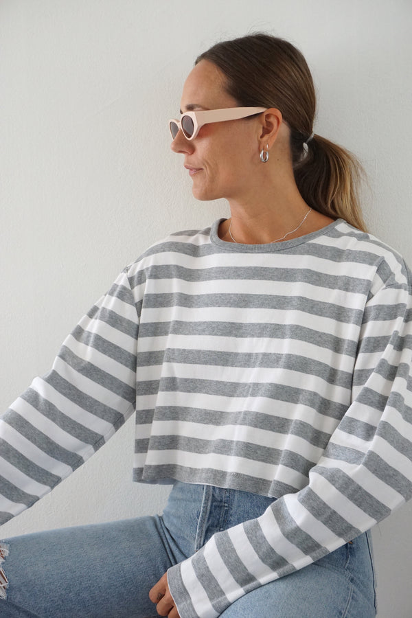 HEATHER STRIPE LONG SLEEVE