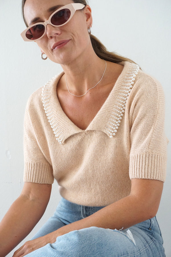 PEARL DRIP SWEATER