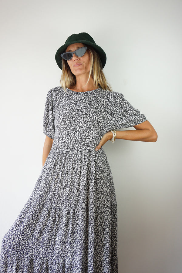 TIERED FLORAL MAXI