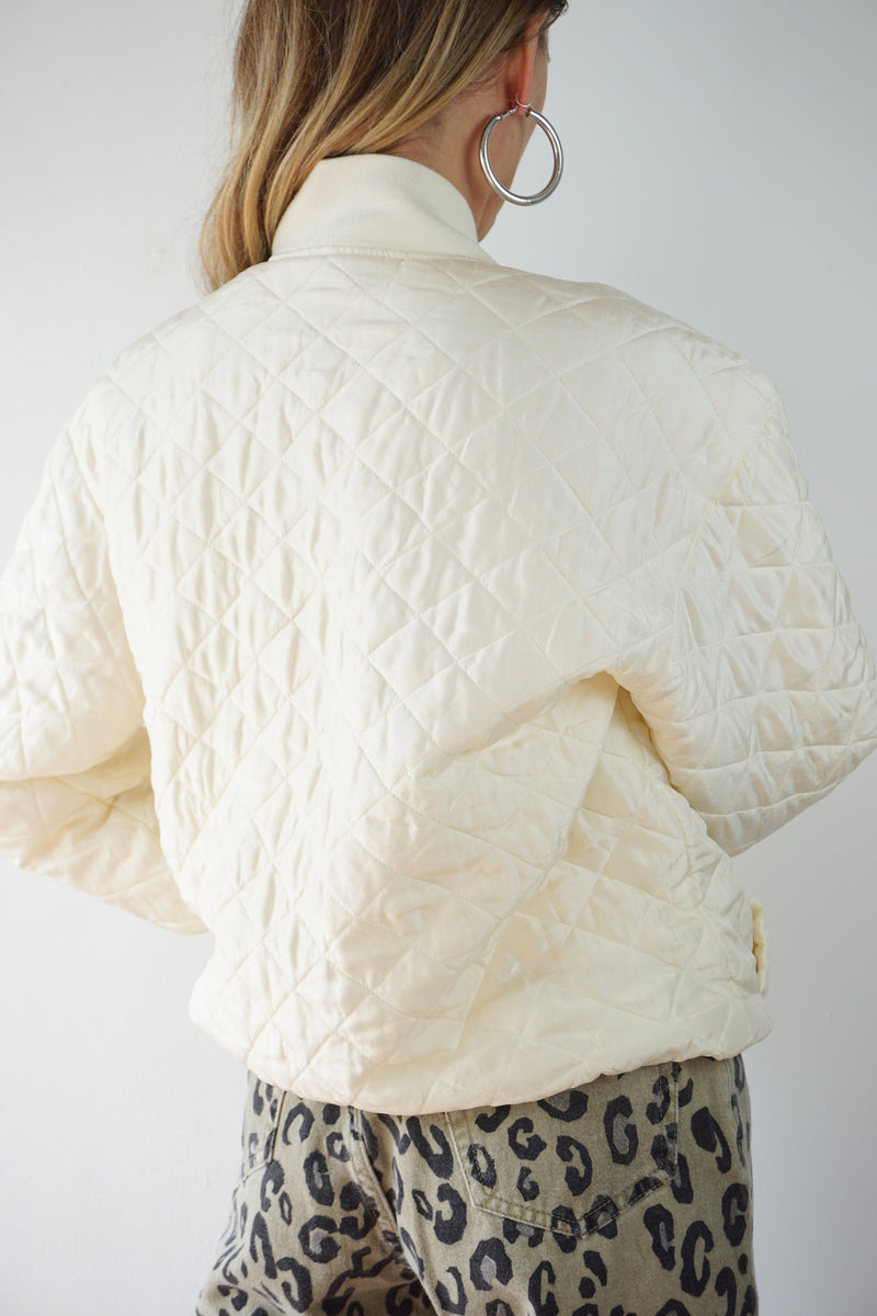 SILK QUILTED BOMBER JACKET