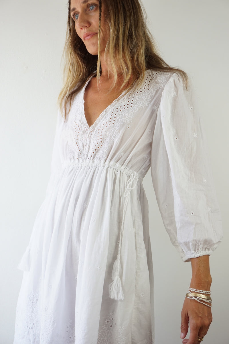 ULLA JOHNSON EYELET DRESS