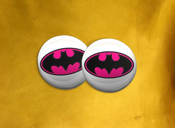 ECAB CH - Batman Classic Logo - Pink on White