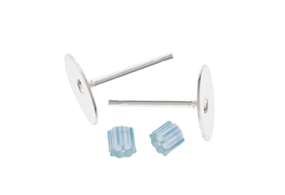 FNDE Earring Post Flat 10mm - 2 pack