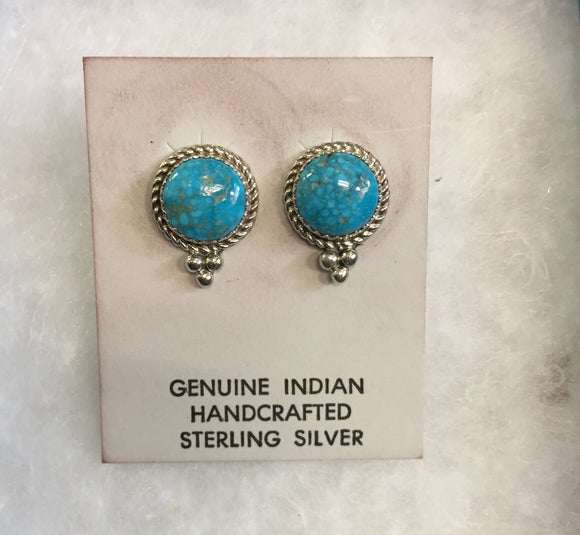 Sterling Silver Earrings - Kingman Turquoise