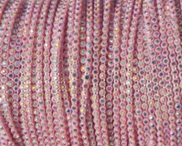 Rhinestone Banding - Light Pink
