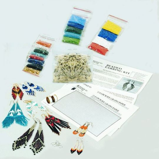 Beaded Earring Kit - with Instructions