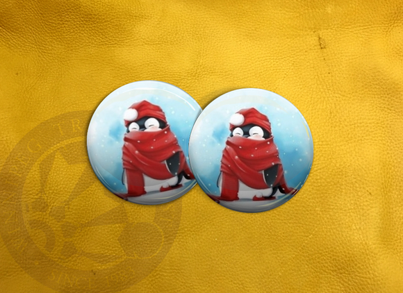 ECAB WT Penguin Red Scarf