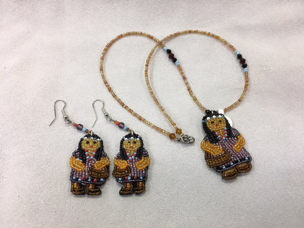 Beaded Necklace and Earrings - Girl