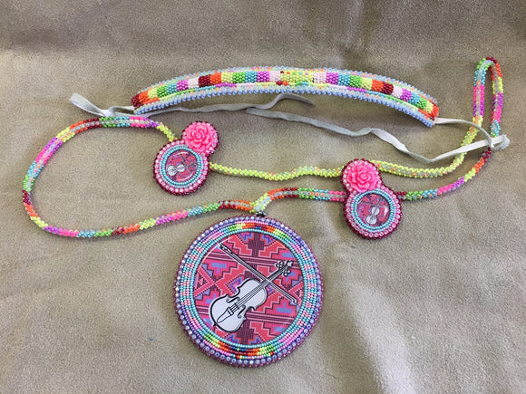 Beaded Set - Medallion 4 pc