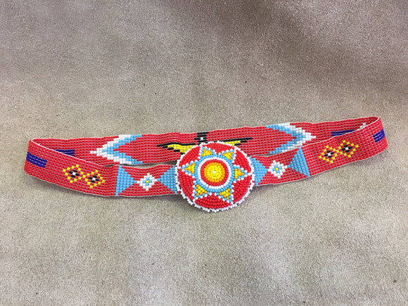 Beaded Headband with Medallion